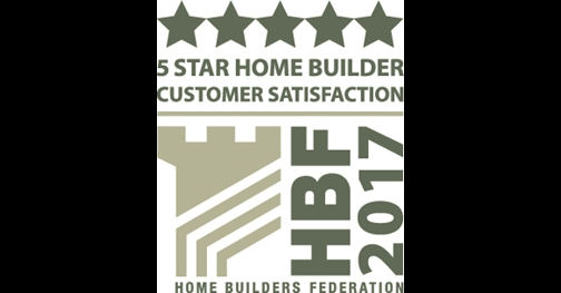 5 Star home builder customer satisfaction - HBF 2015